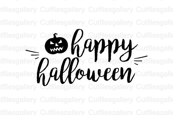 Download Free Happy Halloween Graphic By Cutfilesgallery Creative Fabrica for Cricut Explore, Silhouette and other cutting machines.