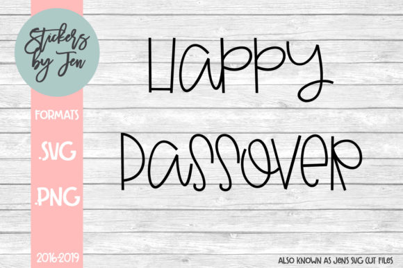 Download Free Happy Passover Graphic By Stickers By Jennifer Creative Fabrica for Cricut Explore, Silhouette and other cutting machines.