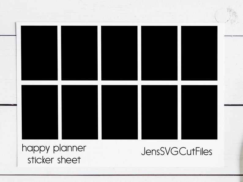Download Free Happy Planner Sticker Template Graphic By Stickers By Jennifer for Cricut Explore, Silhouette and other cutting machines.