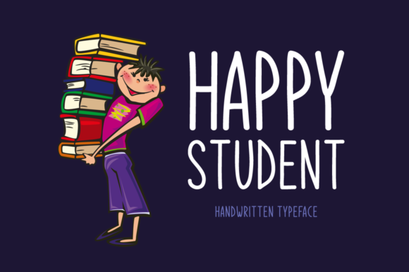 Print on Demand: Happy Student Script & Handwritten Font By Shattered Notion