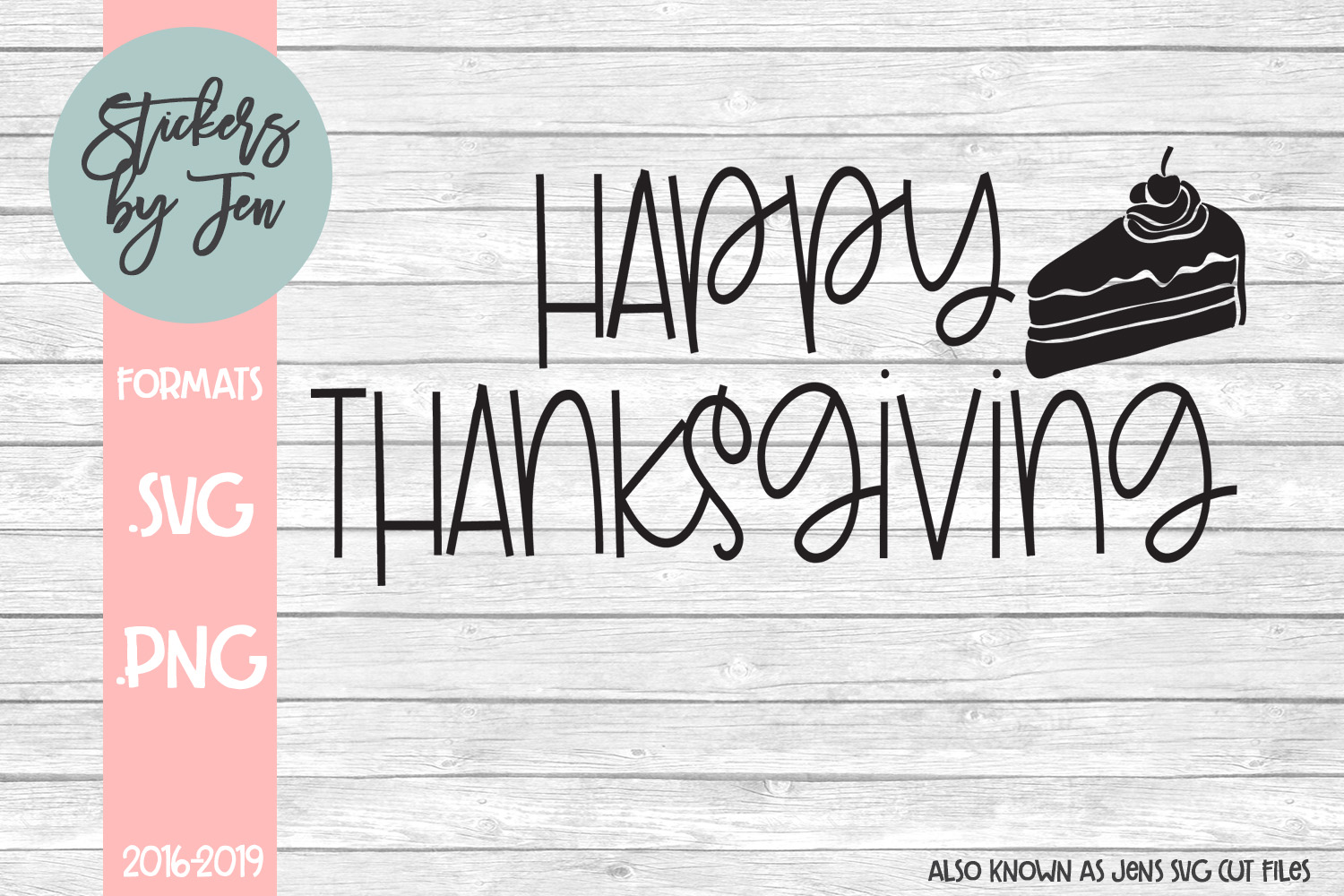 Download Free Happy Thanksgiving Svg Graphic By Stickers By Jennifer for Cricut Explore, Silhouette and other cutting machines.