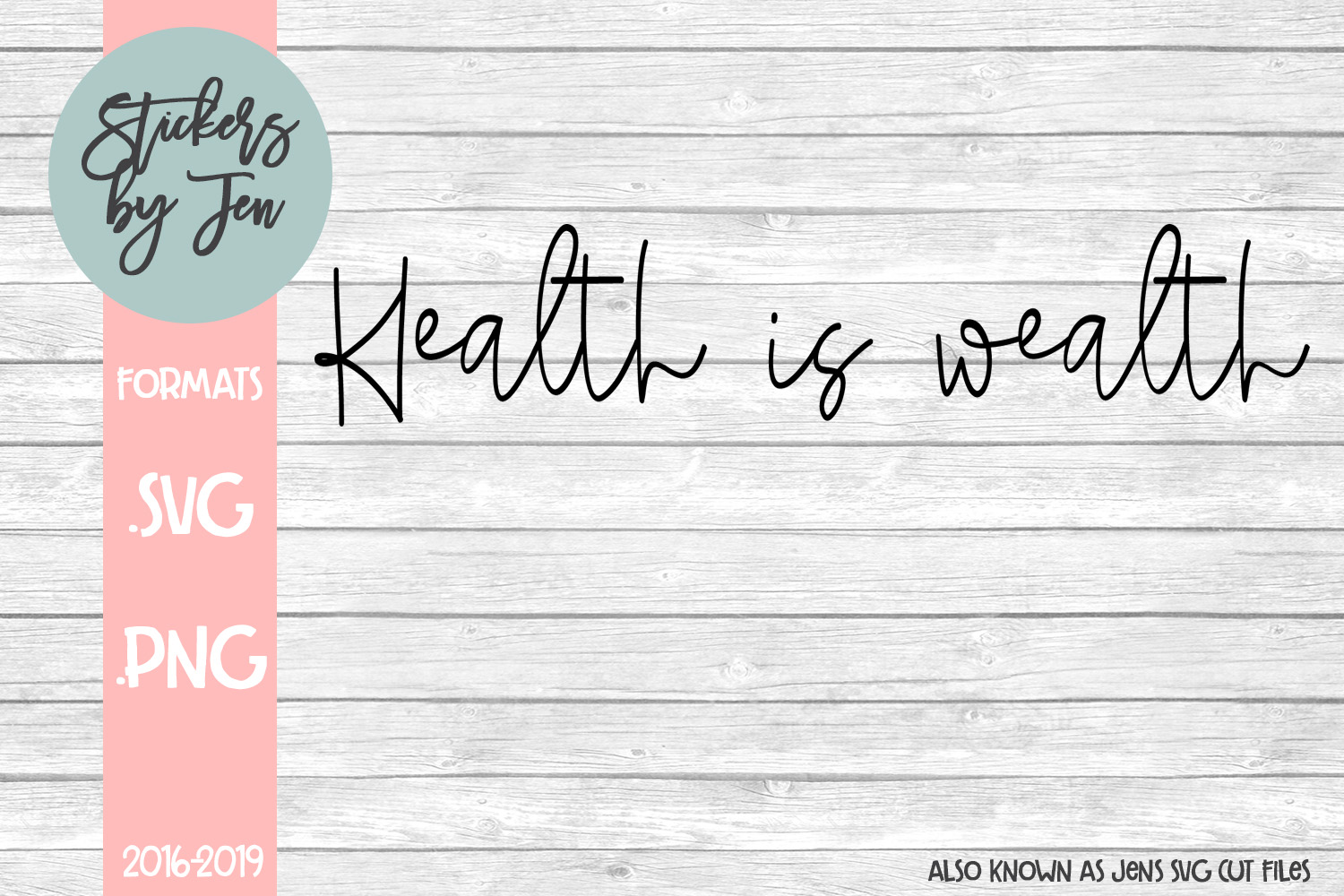Download Free Health Is Wealth Svg Graphic By Stickers By Jennifer Creative for Cricut Explore, Silhouette and other cutting machines.