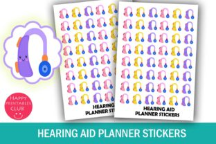 Hearing Aid Planner Stickers- Audiology Graphic By Happy Printables Club