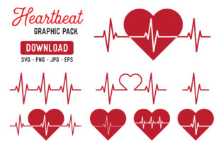 Heart Beat Pulse Vector Clipart Graphic By The Gradient Fox