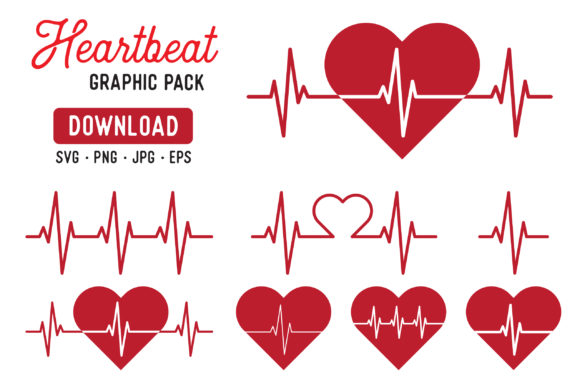 Heart Beat Pulse Vector Clipart Graphic By The Gradient Fox Image 1