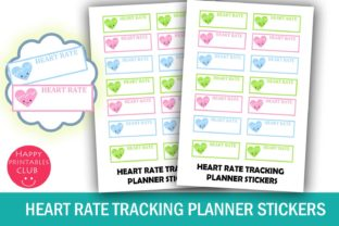 Heart Rate Tracking Planner Stickers Graphic By Happy Printables Club