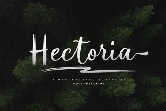 Print on Demand: Hectoria Script Script & Handwritten Font By Cooldesignlab