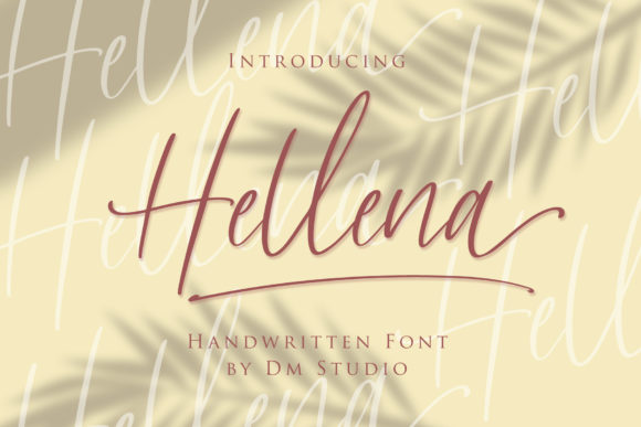 Print on Demand: Hellena Script & Handwritten Font By dmletter31