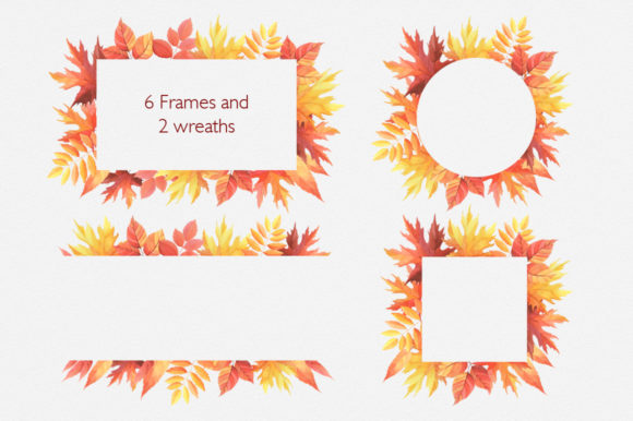 Print on Demand: Hello Autumn Watercolor Collection Graphic Illustrations By Nata Art Graphic - Image 2