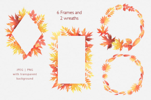 Print on Demand: Hello Autumn Watercolor Collection Graphic Illustrations By Nata Art Graphic - Image 3