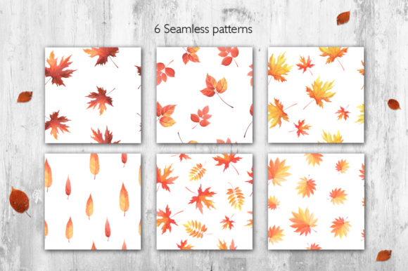 Print on Demand: Hello Autumn Watercolor Collection Graphic Illustrations By Nata Art Graphic - Image 4