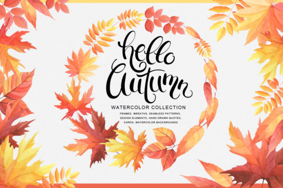 Hello Autumn Watercolor Collection Graphic By Nata Art Graphic