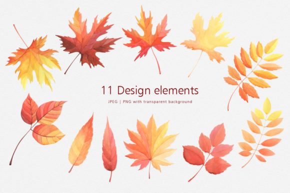 Print on Demand: Hello Autumn Watercolor Collection Graphic Illustrations By Nata Art Graphic - Image 8