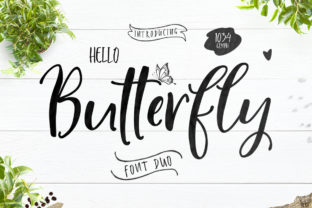 Hello Butterfly Duo Script & Handwritten Font By delishadesign.font