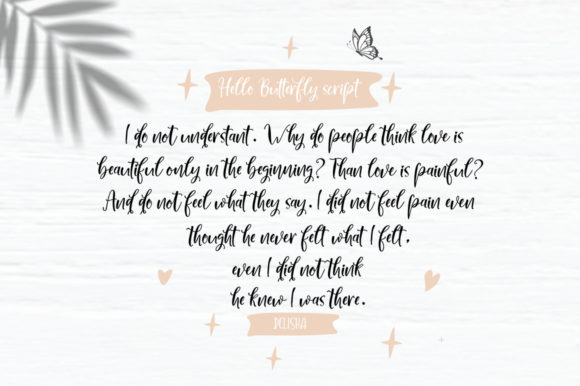 Print on Demand: Hello Butterfly Duo Script & Handwritten Font By delishadesign.font - Image 6