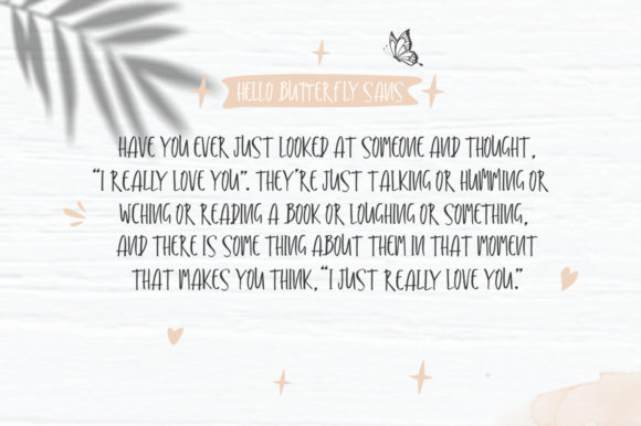Print on Demand: Hello Butterfly Duo Script & Handwritten Font By delishadesign.font - Image 7