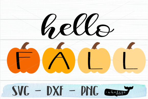 Download Free Hello Fall Pumpkin Graphic By Whaleysdesigns Creative Fabrica for Cricut Explore, Silhouette and other cutting machines.