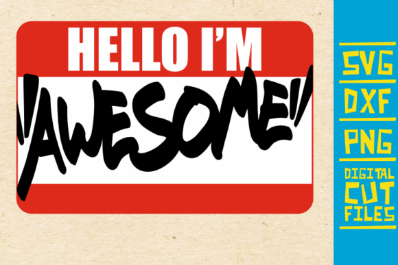 Download Free Hello I M Awesome Black Women Graphic By Svgyeahyouknowme for Cricut Explore, Silhouette and other cutting machines.