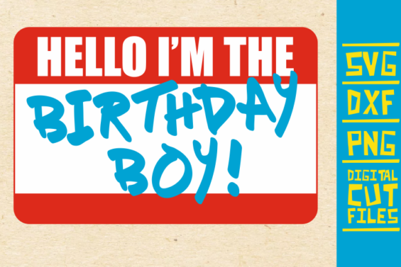 Download Free Hello I M Birthday Boy Svg Black Man Graphic By for Cricut Explore, Silhouette and other cutting machines.