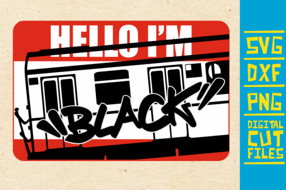 Download Free Hello I M Black Graffiti Svg Afro Girl Graphic By for Cricut Explore, Silhouette and other cutting machines.