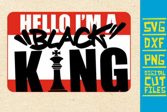 Download Free Hello I M Black King Svg Chess Afro Graphic By for Cricut Explore, Silhouette and other cutting machines.