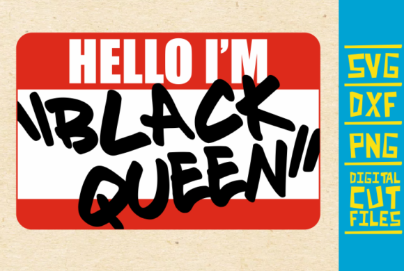 Hello I M Black Queen Svg Afro Woman Graphic By