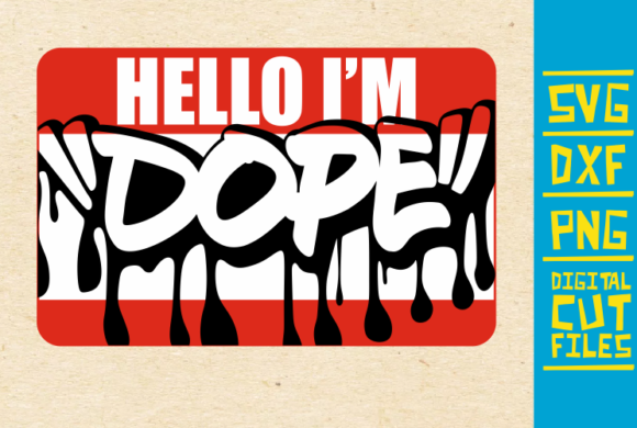 Download Free Hello I M Dope Dripping Svg Afro Girl Graphic By for Cricut Explore, Silhouette and other cutting machines.