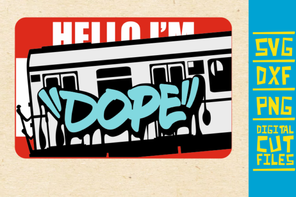 Download Free Hello I M Dope Svg Graffiti Afro Girl Graphic By for Cricut Explore, Silhouette and other cutting machines.