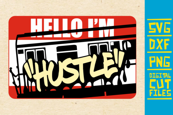 Download Free Hello I M Hustle Svg Graffiti African Graphic By SVG Cut Files
