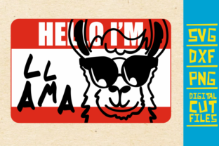 Download Free Hello I M Llama Svg Alpaca Glasses Graphic By Svgyeahyouknowme for Cricut Explore, Silhouette and other cutting machines.