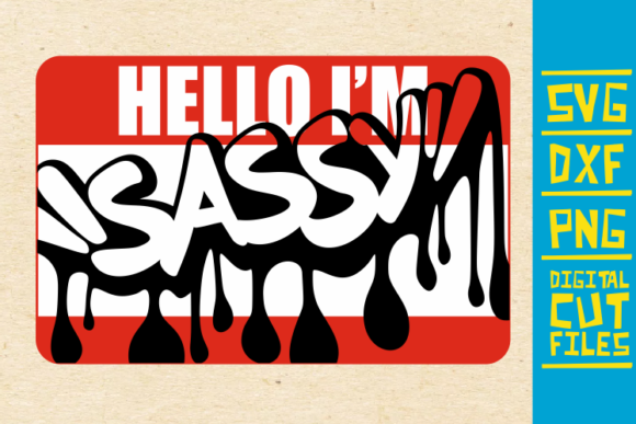 Download Free Hello I M Sassy Graffiti Svg Afro Girl Graphic By for Cricut Explore, Silhouette and other cutting machines.