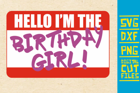 Download Free Hello I M The Birthday Girl Afro Woman Graphic By for Cricut Explore, Silhouette and other cutting machines.