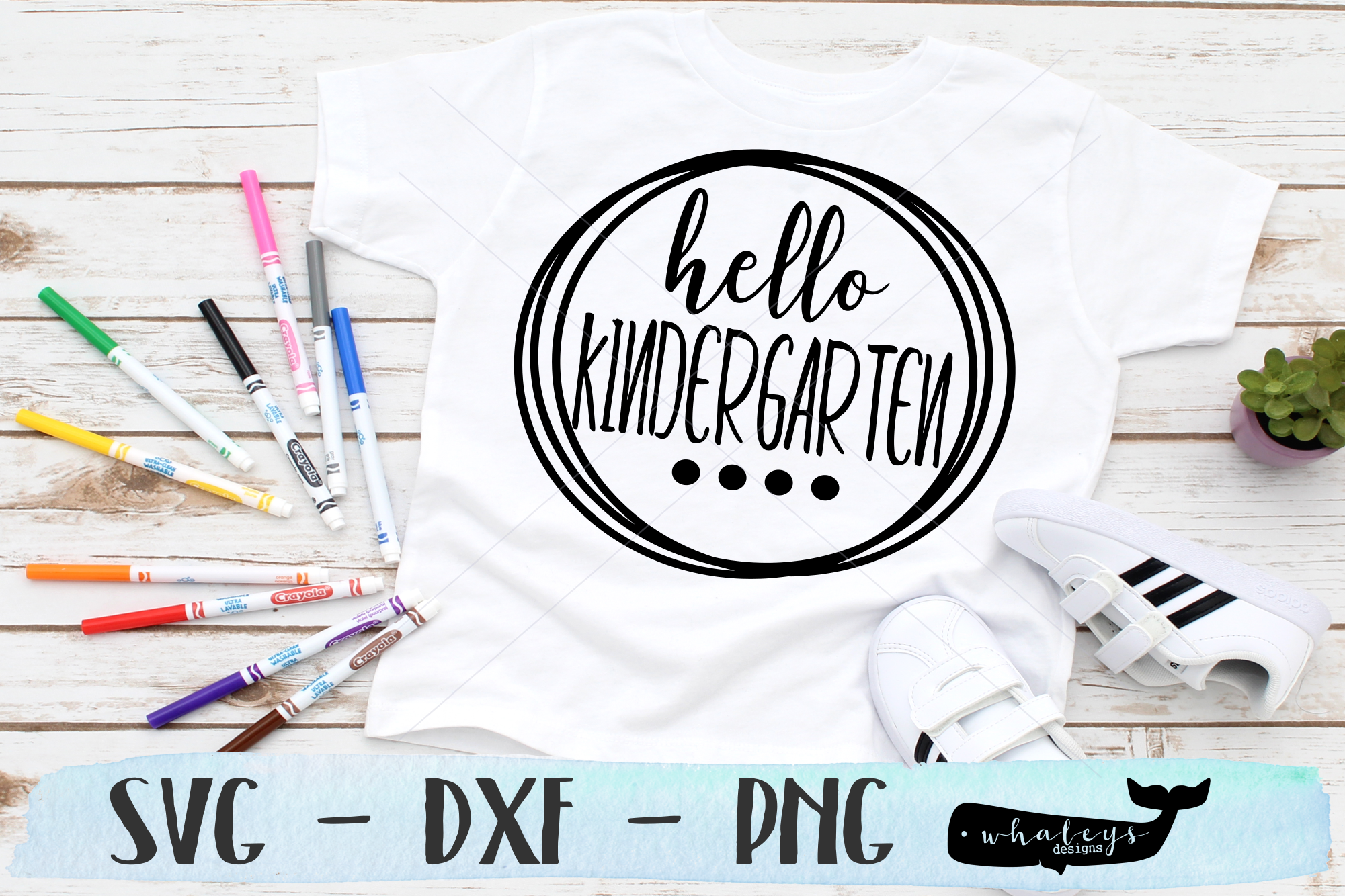 Download Free Hello Kindergarten School Graphic By Whaleysdesigns Creative for Cricut Explore, Silhouette and other cutting machines.