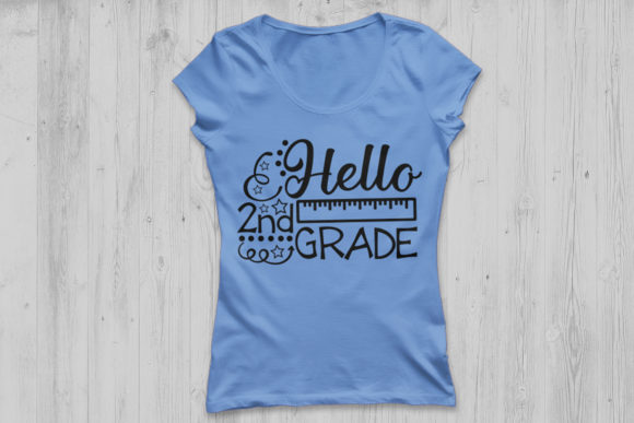 Download Free Hello Second Grade Svg Graphic By Cosmosfineart Creative Fabrica for Cricut Explore, Silhouette and other cutting machines.