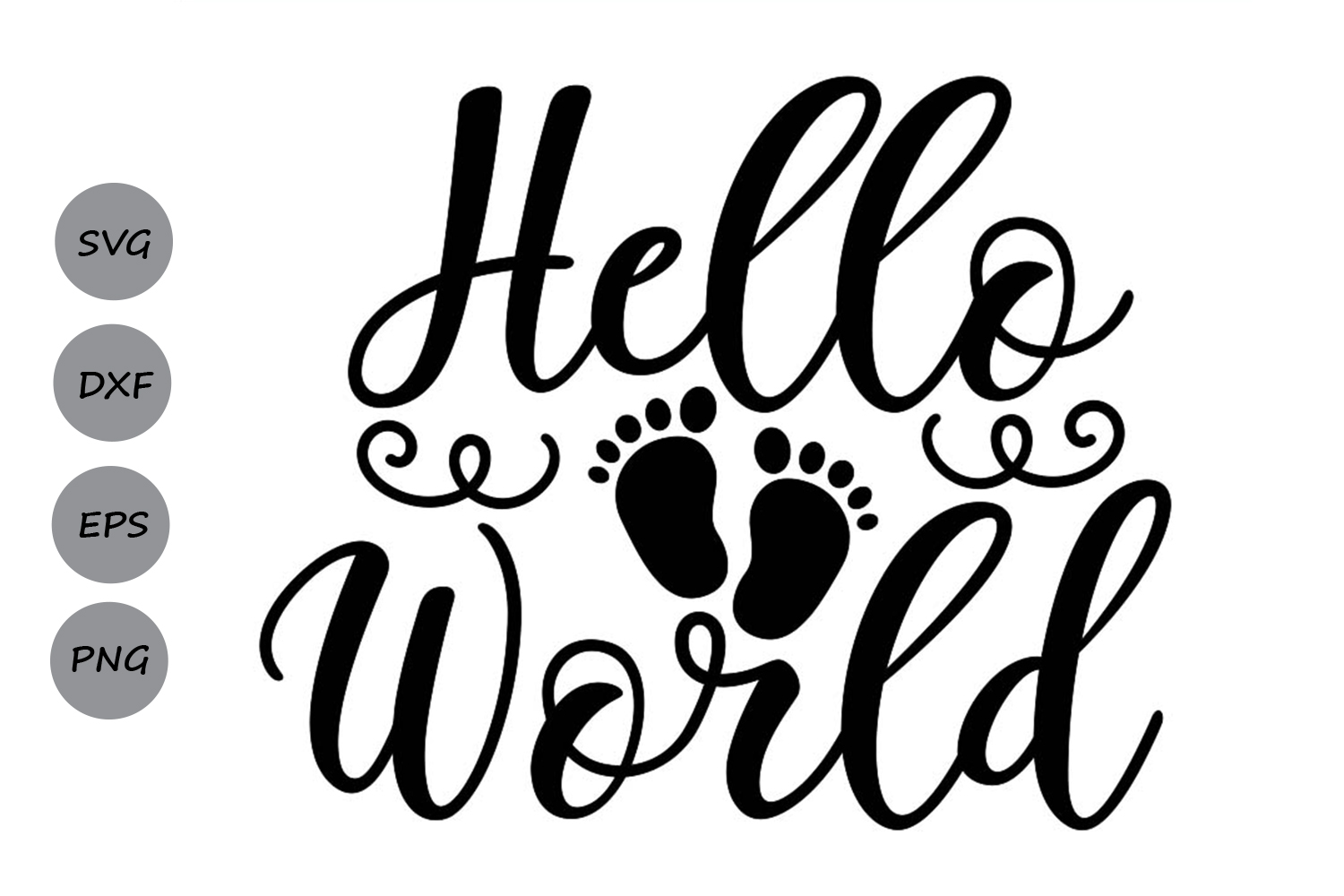 Download Free Hello World Graphic By Cosmosfineart Creative Fabrica for Cricut Explore, Silhouette and other cutting machines.