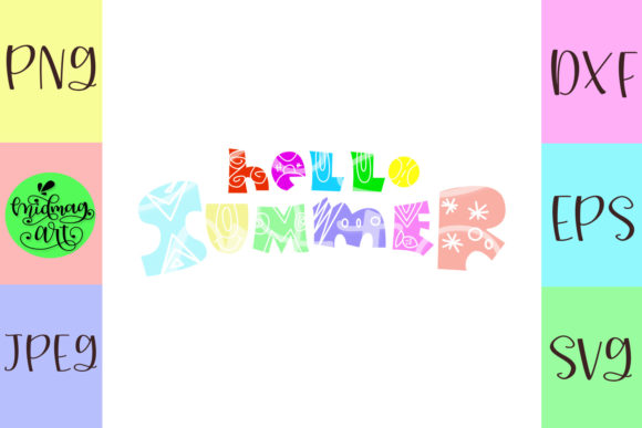 Download Free Hello Summer Svg Summer Svg Graphic By Midmagart Creative Fabrica for Cricut Explore, Silhouette and other cutting machines.
