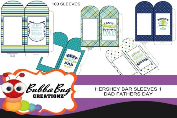 Hershey Bar Sleeves Dad Set 1 Graphic Crafts By BUBBABUG