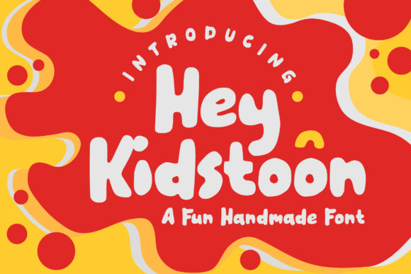 Print on Demand: Hey Kidstoon Sans Serif Font By letter battoyart