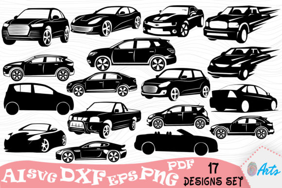 High Speed Cars Silhouette Vector Design Graphic Illustrations By DigitEMB - Image 1