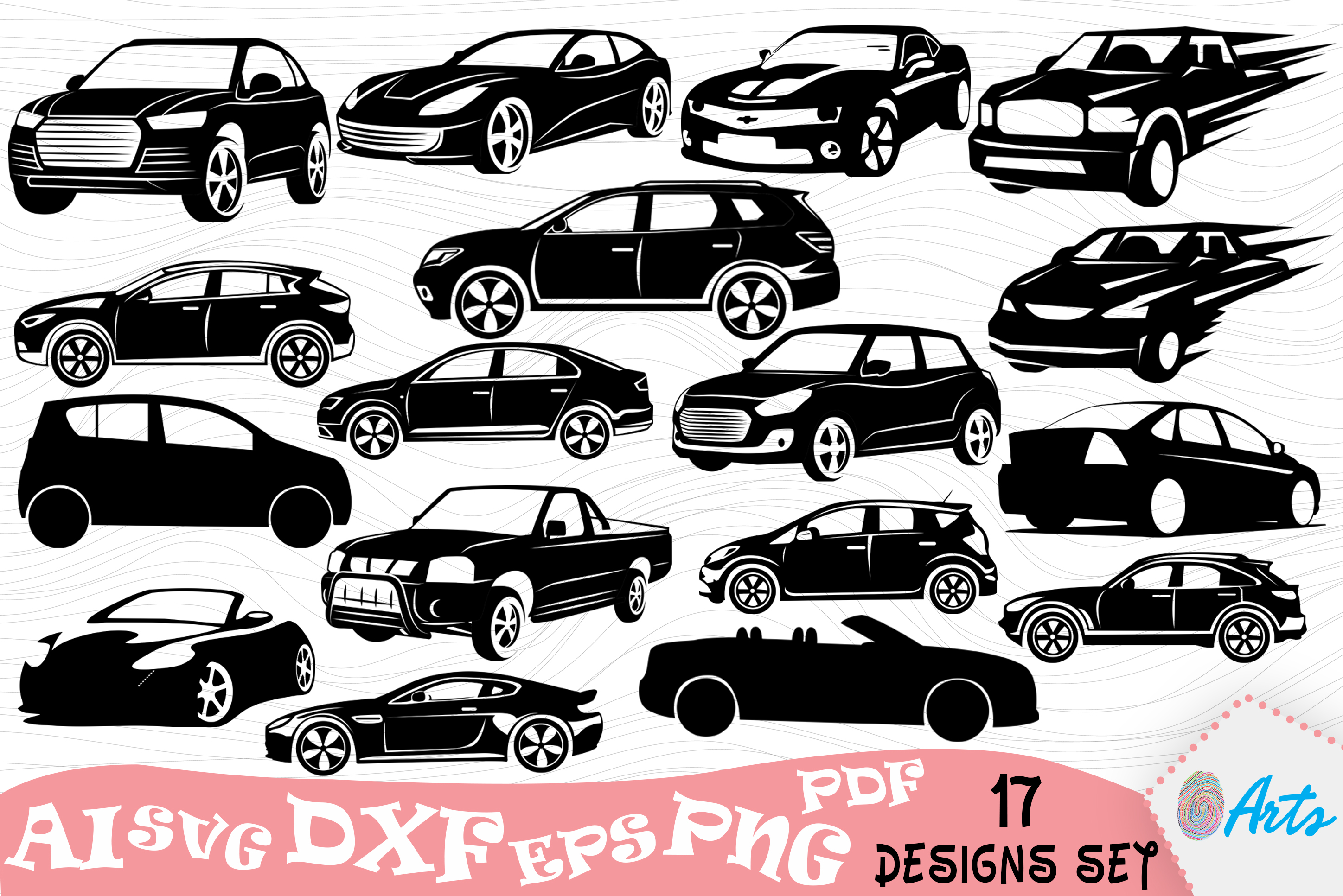 Download Free High Speed Cars Silhouette Vector Design Graphic By Digitemb for Cricut Explore, Silhouette and other cutting machines.