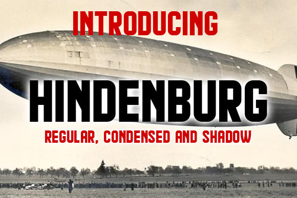 Print on Demand: Hindenburg Display Schriftarten von vladimirnikolic