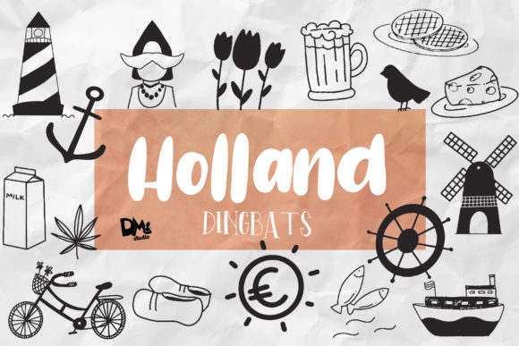 Holland Dingbats Dingbats Font By dmletter31