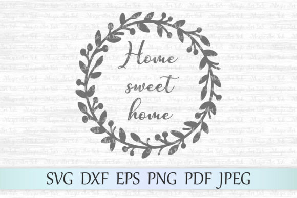 Download Free Home Sweet Home Cut File Graphic By Magicartlab Creative Fabrica for Cricut Explore, Silhouette and other cutting machines.