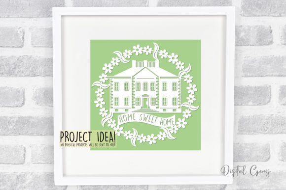 Home Sweet Home Papercut Design Graphic By Digital Gems Image 2