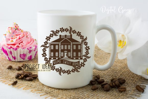 Home Sweet Home Papercut Design Graphic By Digital Gems Image 3