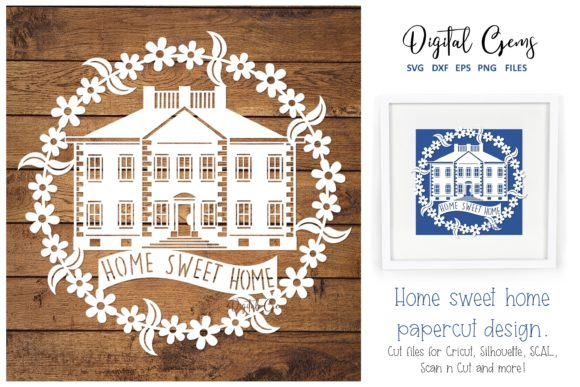 Home Sweet Home Papercut Design Graphic By Digital Gems