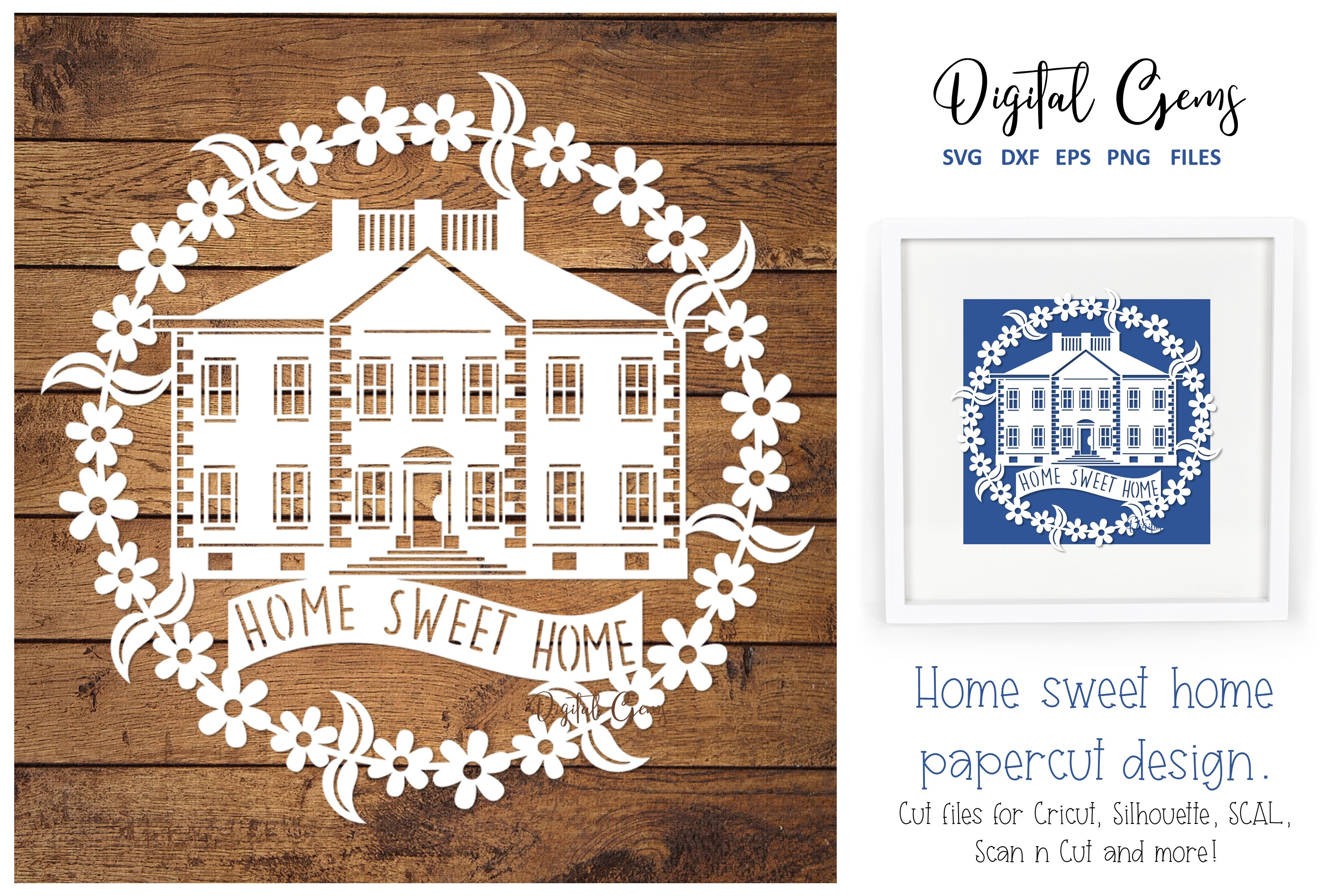 Download Free Home Sweet Home Papercut Design Graphic By Digital Gems SVG Cut Files