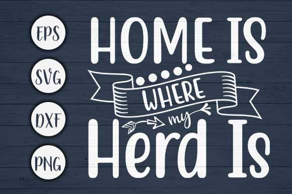 Download Free Home Is Where My Farm Svg Cut File Graphic By Creativeart for Cricut Explore, Silhouette and other cutting machines.