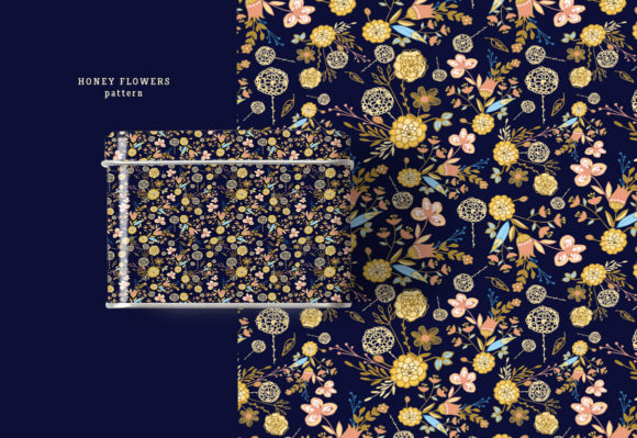 Honey Flowers Graphic Illustrations By webvilla - Image 2