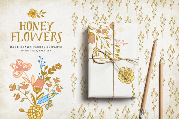 Honey Flowers Graphic Illustrations By webvilla - Image 1